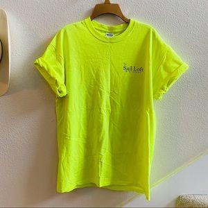 SAILING NANTUCKET men's neon T-shirt XL nautical